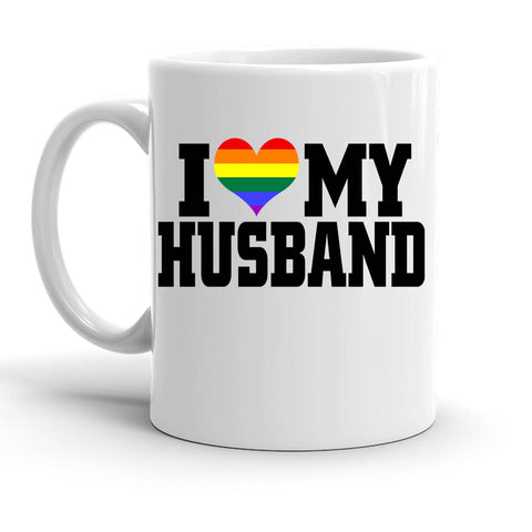 Custom Personalized I Heart My Husband White 15 oz Coffee Mug