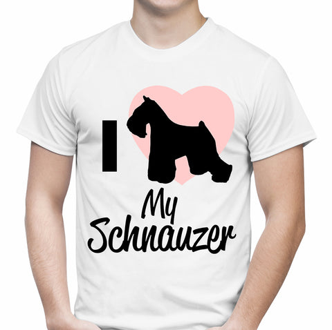 I Heart My Schnauzer White T-Shirt