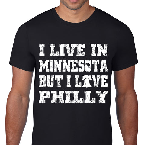 I Live In Philly Black T-Shirt