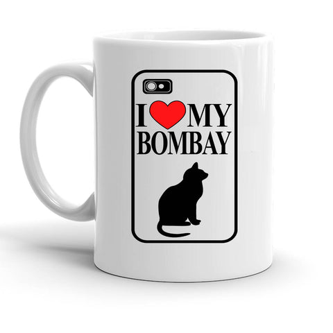 Custom Personalized I Love My Bombay White 15 oz Coffee Mug