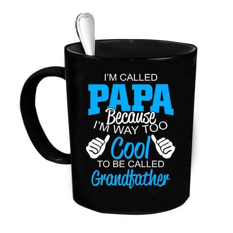 Custom Personalized Im Called Papa Black 15 oz Coffee Mug
