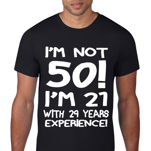Im Not Fifty Black T-Shirt