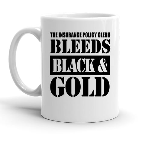 Custom Personalized Insurance Policy Clerk White 15 oz Coffee Mug