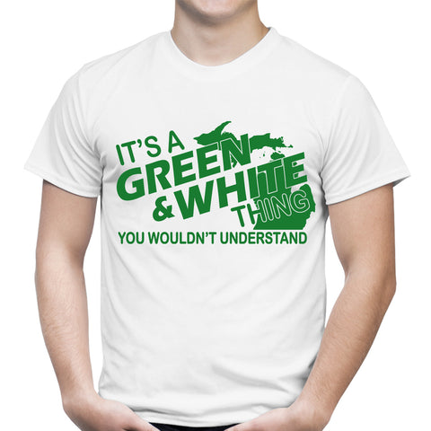 Its A Green And White Thing White T-Shirt