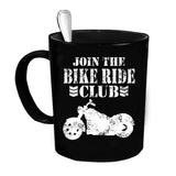 Custom Personalized Join Bikeride Club Black 15 oz Coffee Mug