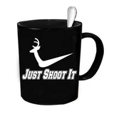 Custom Personalized Just Shoot It Black 15 oz Coffee Mug