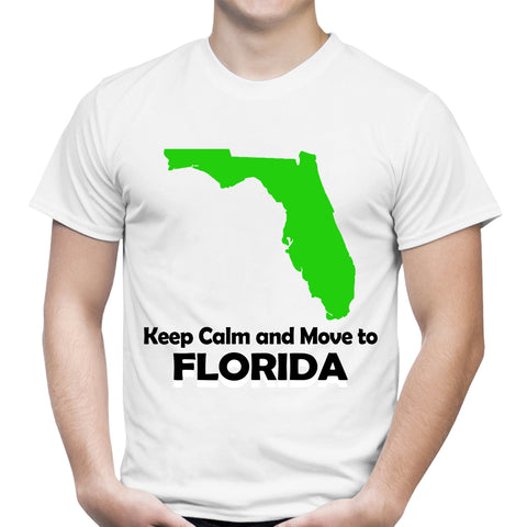 Keep Calm Move To Florida White T-Shirt