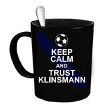 Custom Personalized Keep Calm Trust Klinsmann Black 15 oz Coffee Mug