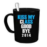Custom Personalized Kiss My Class Goodbye Black 15 oz Coffee Mug