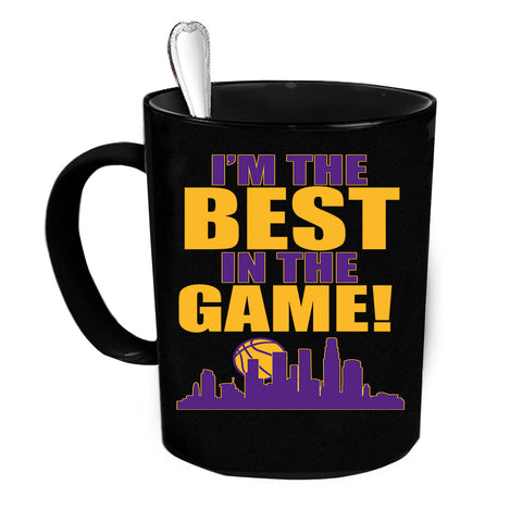 Custom Personalized The Best In The Game Purple Black 15 oz Coffee Mug