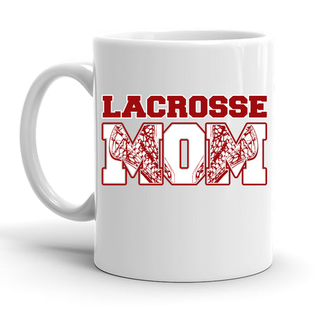 Custom Personalized Lacrosse Mom White 15 oz Coffee Mug