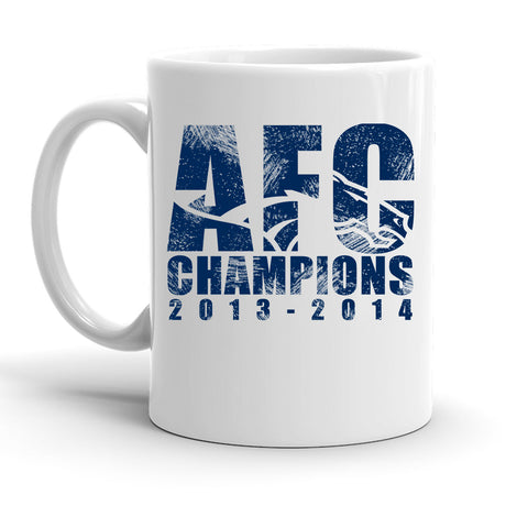 Custom Personalized AFC Champs 13 to 14 White 15 oz Coffee Mug