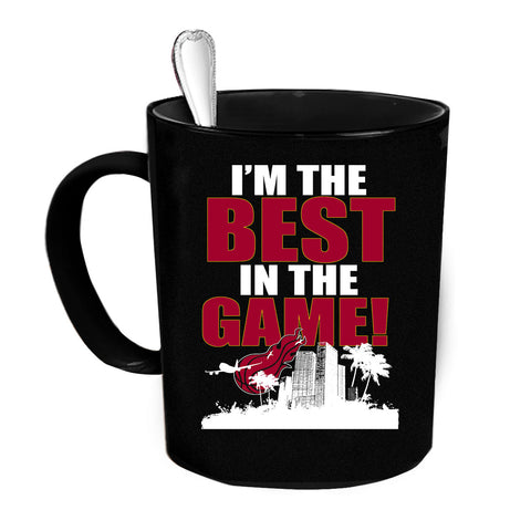 Custom Personalized Best In the Game - Miami Black 15 oz Coffee Mug