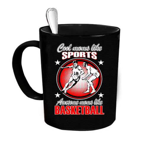 Custom Personalized Cool Mom Likes Sports Black 15 oz Coffee Mug