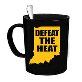 Custom Personalized Defeat The Heat Black 15 oz Coffee Mug