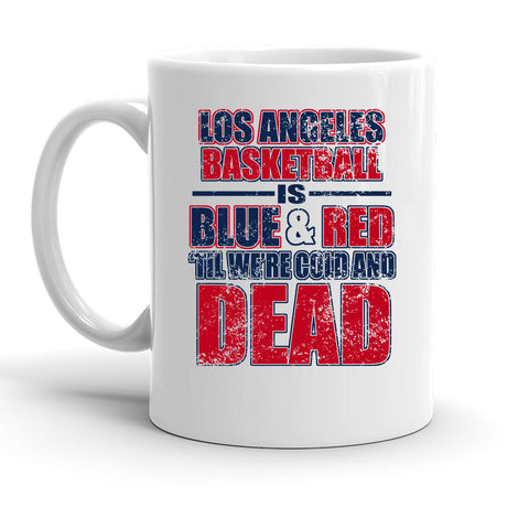 Custom Personalized Los Angeles Basketball Blue And Red White 15 oz Coffee Mug