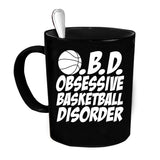 Custom Personalized Obsessive Basketball Black 15 oz Coffee Mug