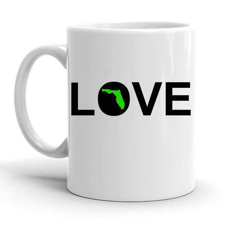 Custom Personalized Love Florida White 15 oz Coffee Mug
