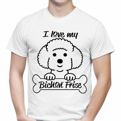 Love My Bichon Frise White T-Shirt