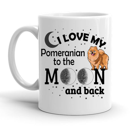 Custom Personalized Love My Pome Moon White 15 oz Coffee Mug