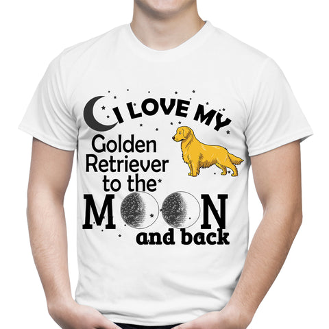 Love My Retriever Moon White T-Shirt