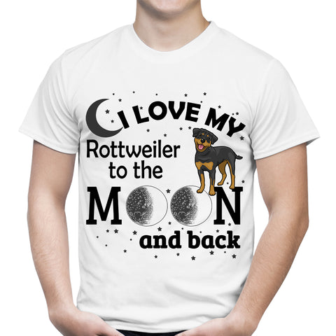Love My Rottweiler Moon White T-Shirt