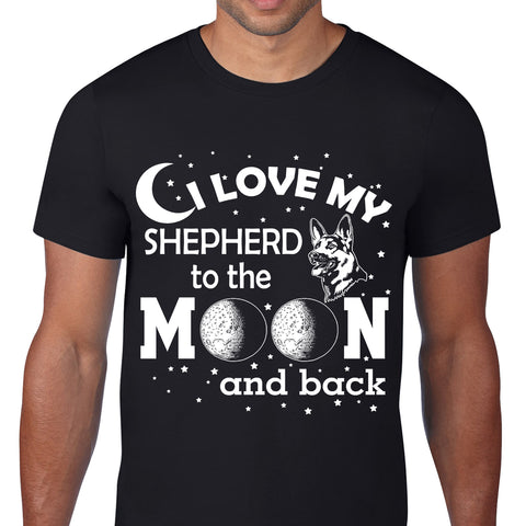 Love My Shepherd Moon Black T-Shirt