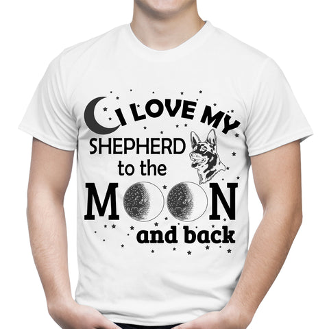 Love My Shepherd Moon White T-Shirt