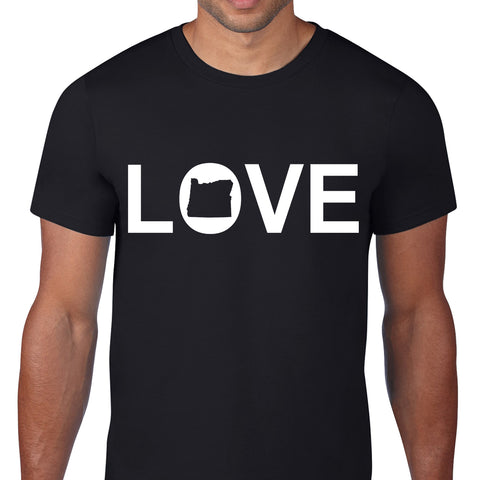 Love Oregon Black T-Shirt