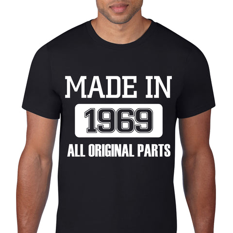 Made In 1969 Black T-Shirt