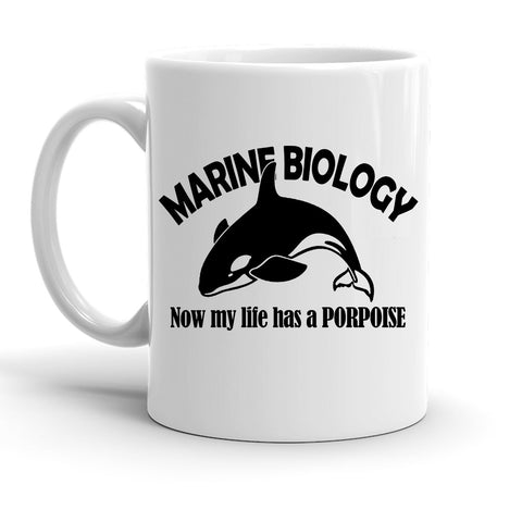 Custom Personalized Marine Biology Porpoise White 15 oz Coffee Mug