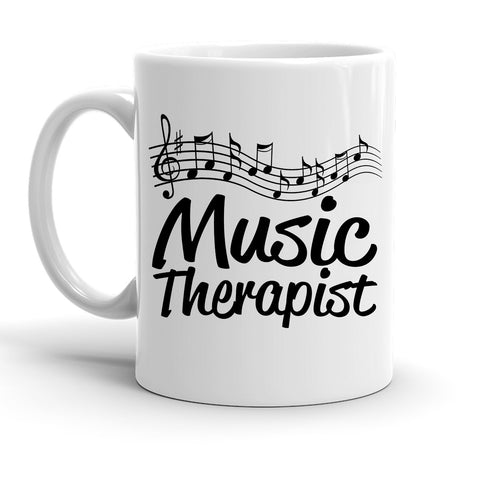 Custom Personalized Music Therapist White 15 oz Coffee Mug
