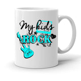 Custom Personalized My Kids Rock White 15 oz Coffee Mug