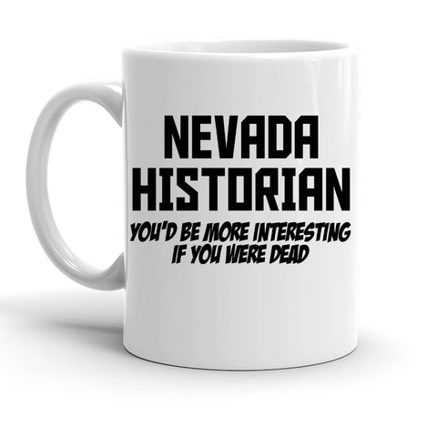 Custom Personalized Nevada Historian White 15 oz Coffee Mug