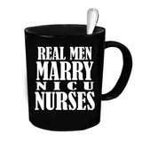 Custom Personalized Nicu Nurses Black 15 oz Coffee Mug
