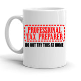 Custom Personalized Professional Tax Preparer White 15 oz Coffee Mug