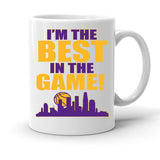 Custom Personalized The Best In The Game Purple White 15 oz Coffee Mug