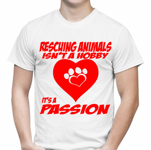 Rescuing Animals White T-Shirt