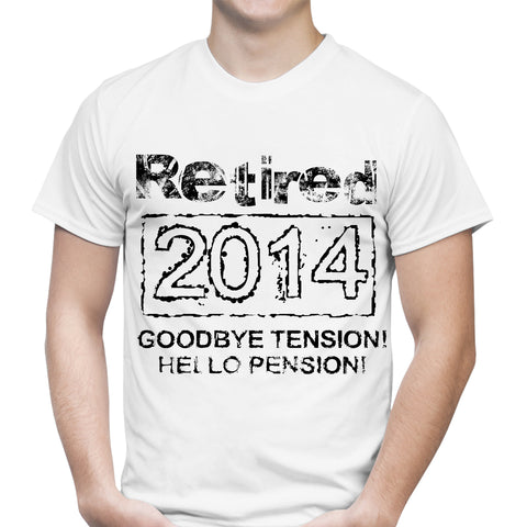 Retired 2014 Pension White T-Shirt