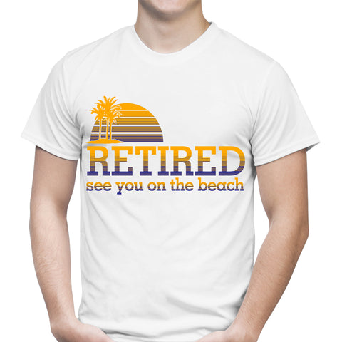 Retired Beach White T-Shirt