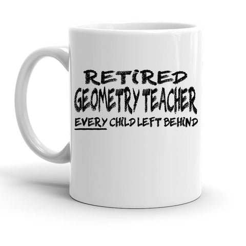 Custom Personalized Retired Geometry Teacher White 15 oz Coffee Mug