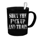 Custom Personalized S The F Up And Train Black 15 oz Coffee Mug