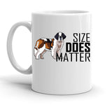 Custom Personalized Size Matters DOG White 15 oz Coffee Mug