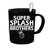 Custom Personalized Super Splash Brothers Black 15 oz Coffee Mug