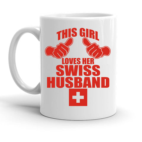 Custom Personalized Swiss Husband White 15 oz Coffee Mug