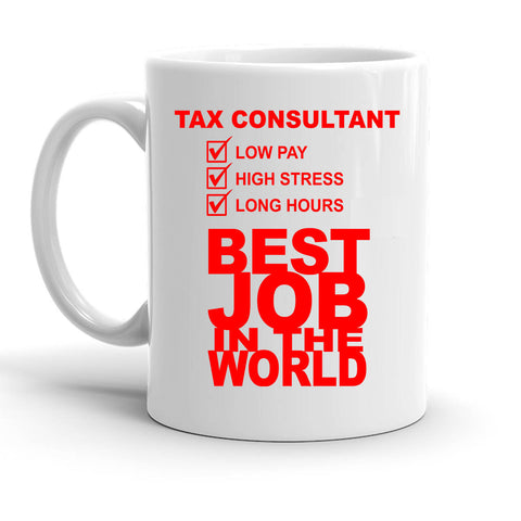 Custom Personalized Tax Consultant White 15 oz Coffee Mug