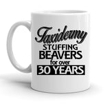Custom Personalized Taxidermy Stuffing White 15 oz Coffee Mug
