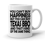 Custom Personalized Texas BBQ White 15 oz Coffee Mug