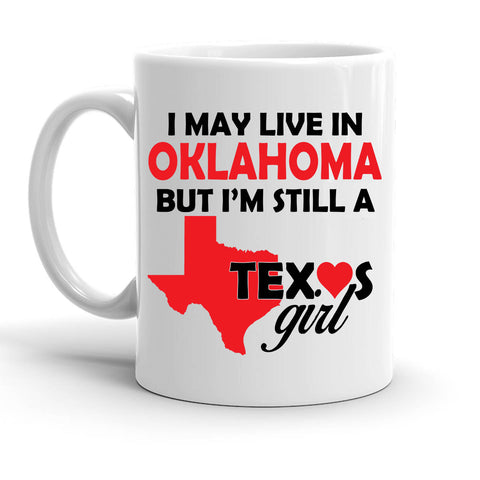 Custom Personalized Texas Girl White 15 oz Coffee Mug