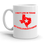 Custom Personalized Texas Wildcats White 15 oz Coffee Mug